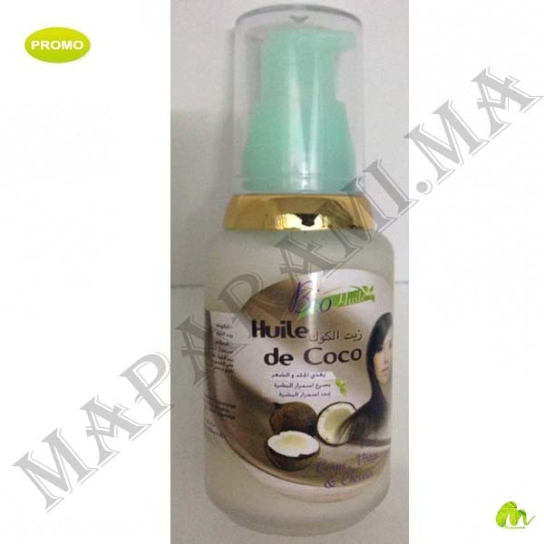 bio huile de coco 60ml visage corps et cheveux maparami. Black Bedroom Furniture Sets. Home Design Ideas
