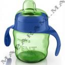 Avent tasse verte avec anses bleue 200ml 6m+ garcon